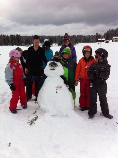 sculture sur neige